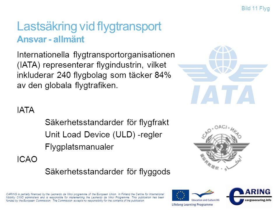 Lastsäkring vid flygtransport Ansvar - allmänt