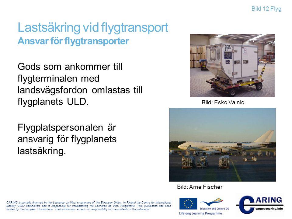 Lastsäkring vid flygtransport Ansvar för flygtransporter