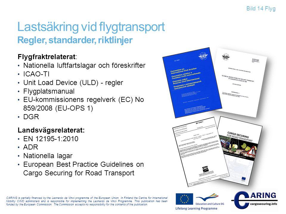 Lastsäkring vid flygtransport Regler, standarder, riktlinjer