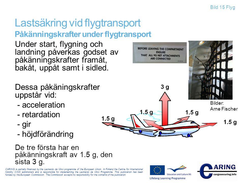 Lastsäkring vid flygtransport Påkänningskrafter under flygtransport