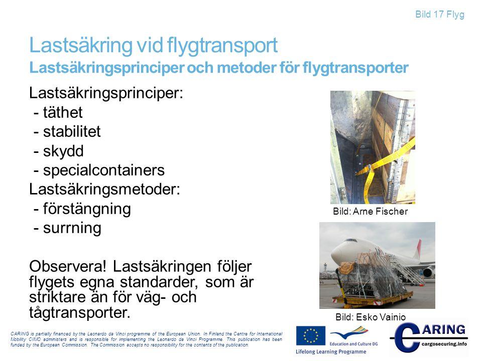 Lastsäkring vid flygtransport Lastsäkringsprinciper och metoder för flygtransporter