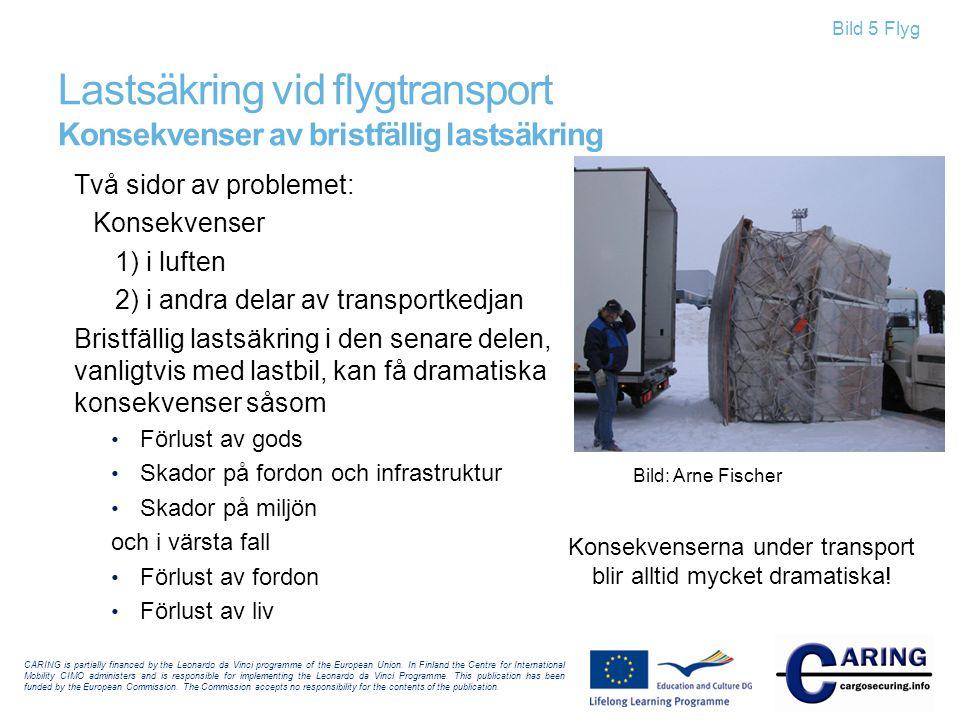 Lastsäkring vid flygtransport Konsekvenser av bristfällig lastsäkring