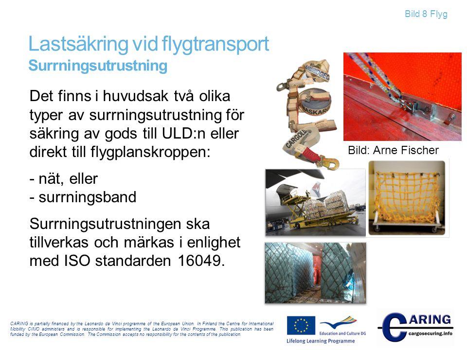 Lastsäkring vid flygtransport Surrningsutrustning