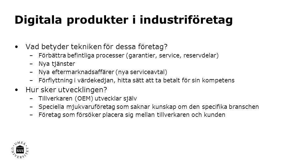 Digitala produkter i industriföretag