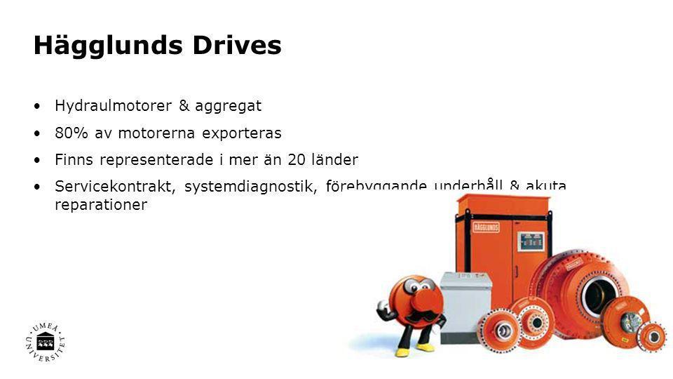 Hägglunds Drives Hydraulmotorer & aggregat 80% av motorerna exporteras