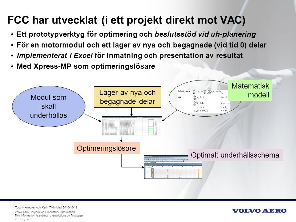 FCC har utvecklat (i ett projekt direkt mot VAC)
