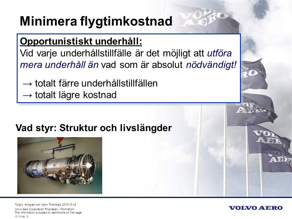 Minimera flygtimkostnad