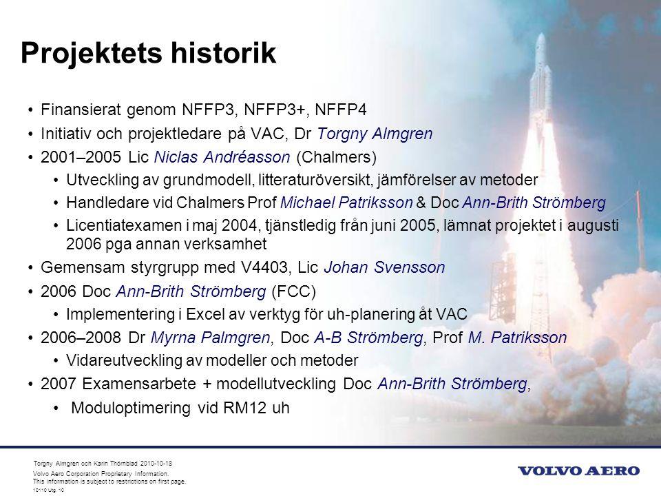 Projektets historik Finansierat genom NFFP3, NFFP3+, NFFP4