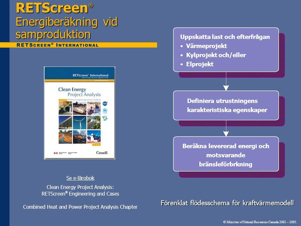 RETScreen® Energiberäkning vid samproduktion