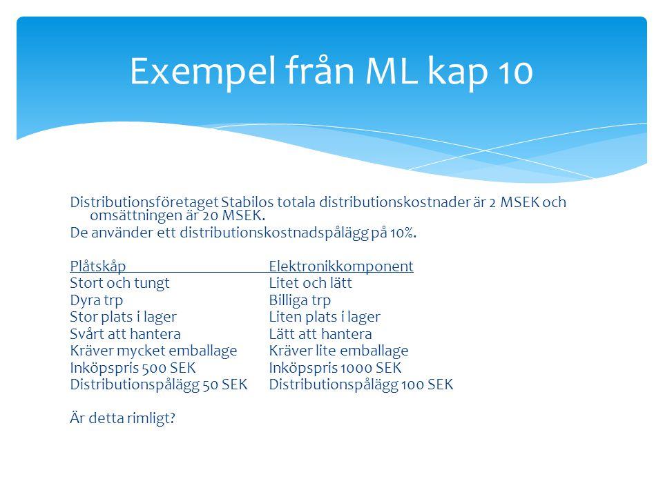 Exempel från ML kap 10