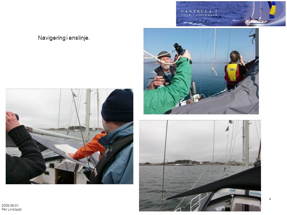 Navigering i enslinje. 2009-05-01 Per Lindquist