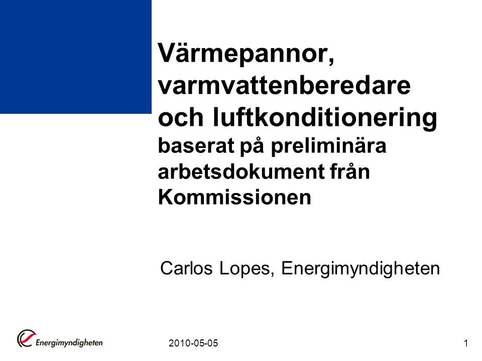Carlos Lopes, Energimyndigheten