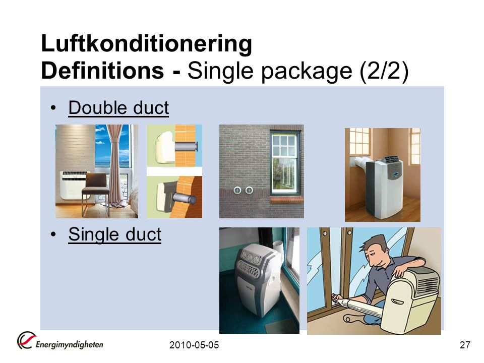 Luftkonditionering Definitions - Single package (2/2)
