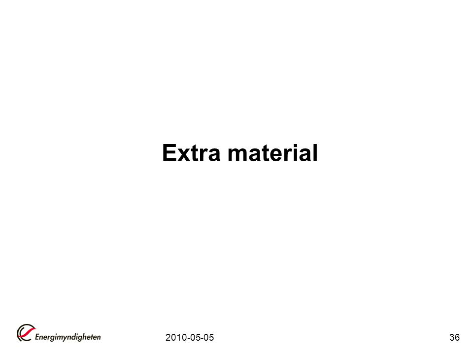 Extra material 2010-05-05