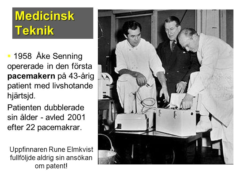 Uppfinnaren Rune Elmkvist fullföljde aldrig sin ansökan om patent!