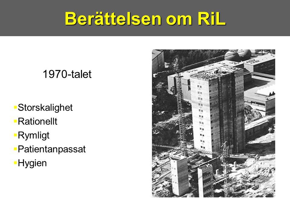 Berättelsen om RiL 1970-talet Storskalighet Rationellt Rymligt