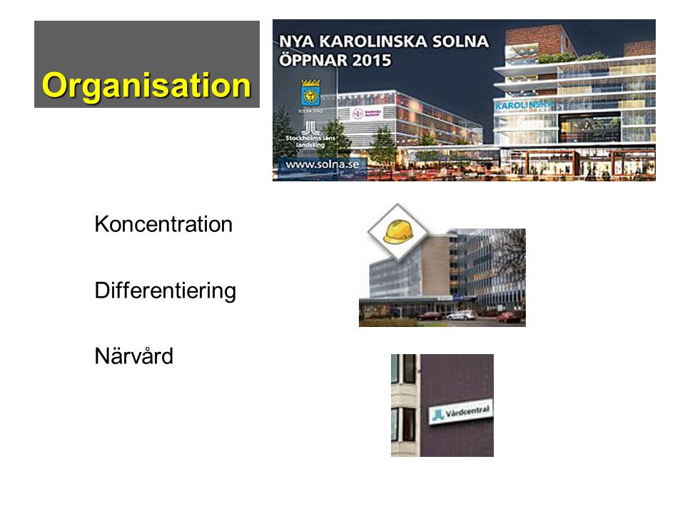 Organisation Koncentration Differentiering Närvård