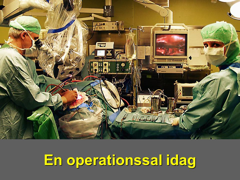 En operationssal idag