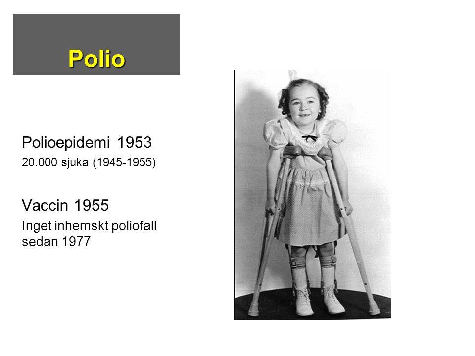 Polio Polioepidemi 1953 Vaccin 1955