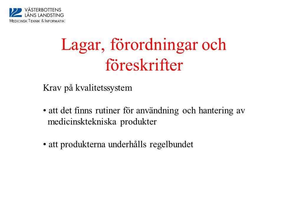 Lagar, förordningar och föreskrifter