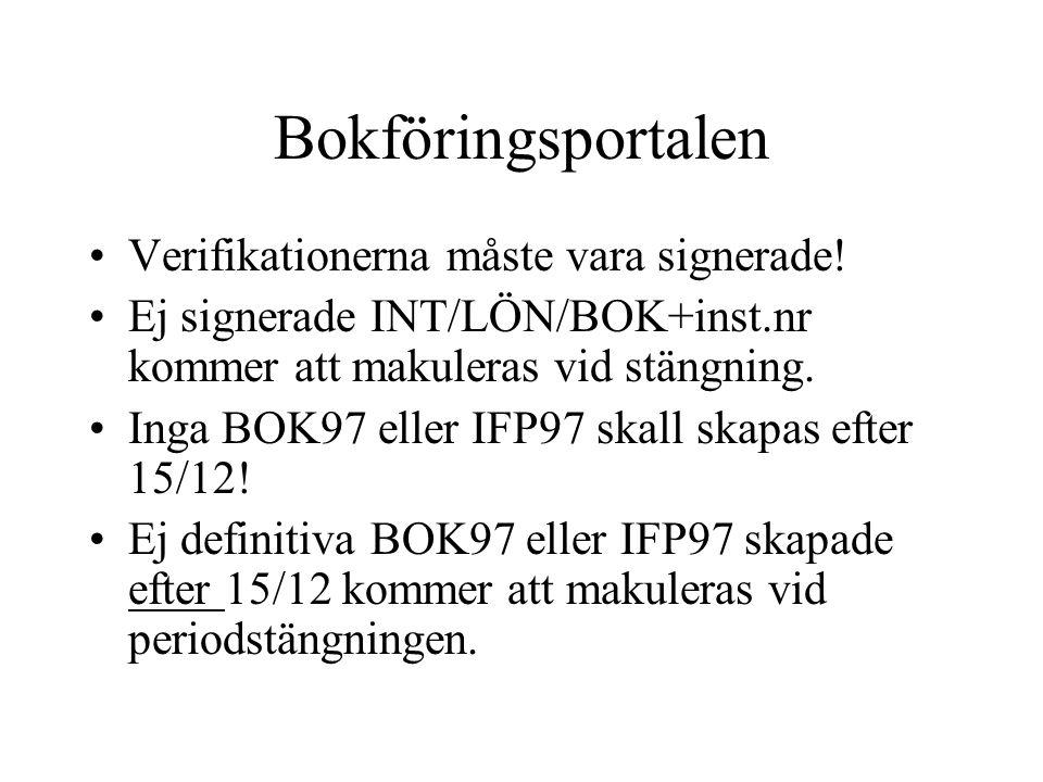Bokföringsportalen Verifikationerna måste vara signerade!