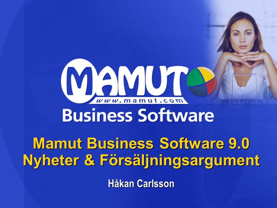 Mamut Business Software 9.0 Nyheter & Försäljningsargument