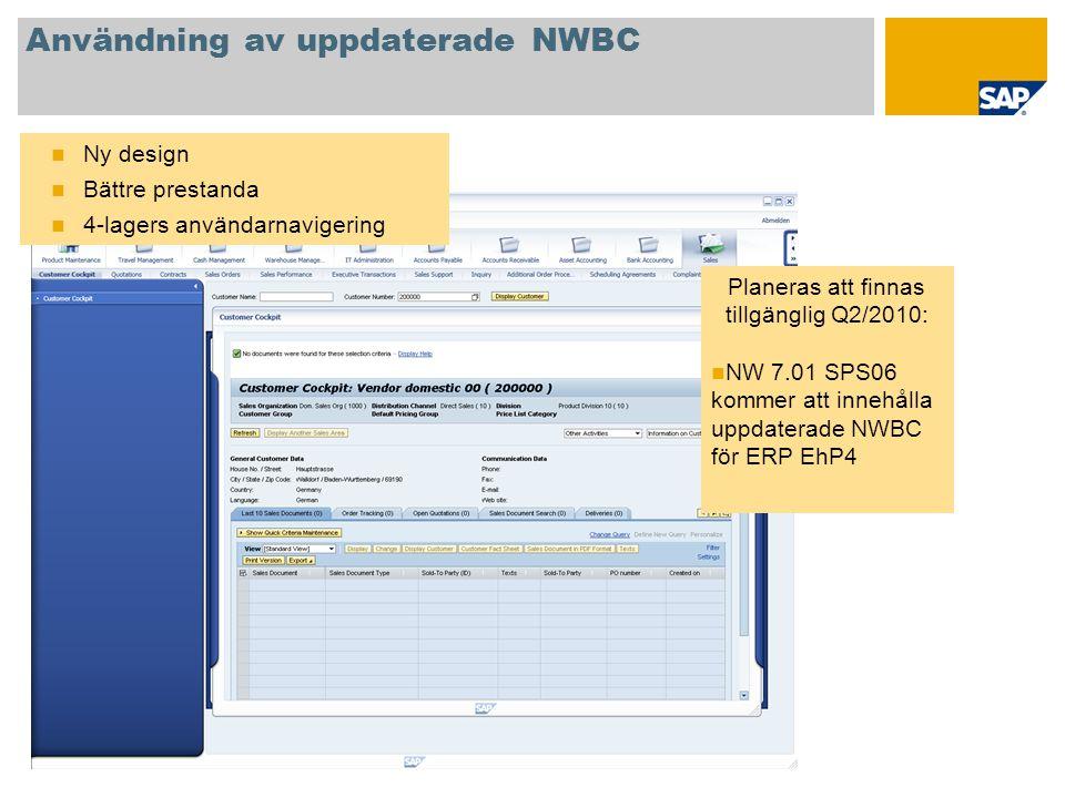 Användning av uppdaterade NWBC