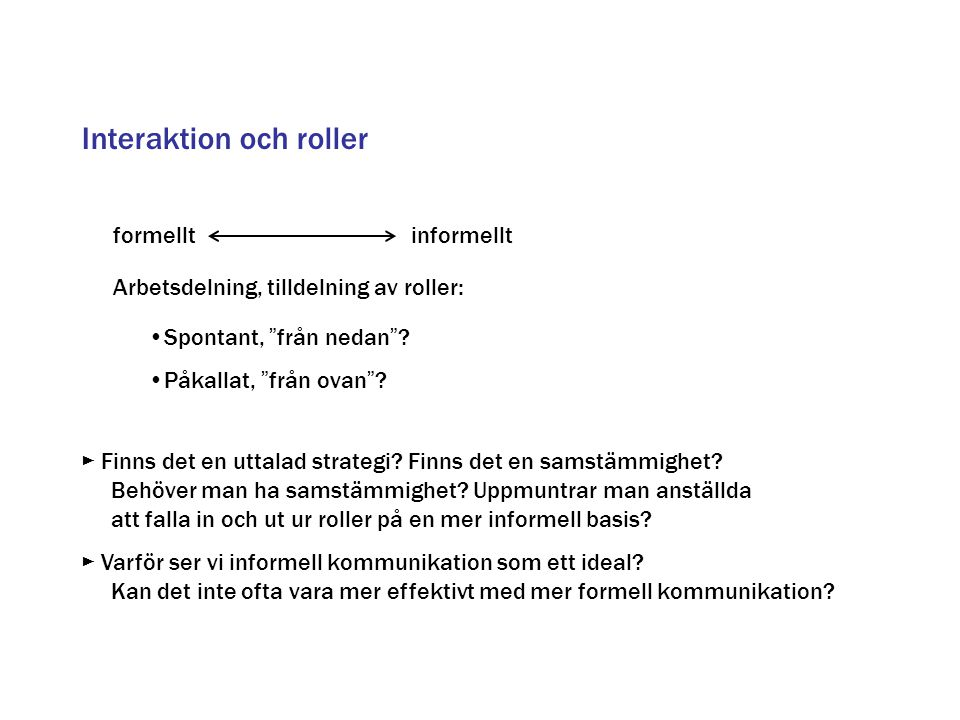 Interaktion och roller