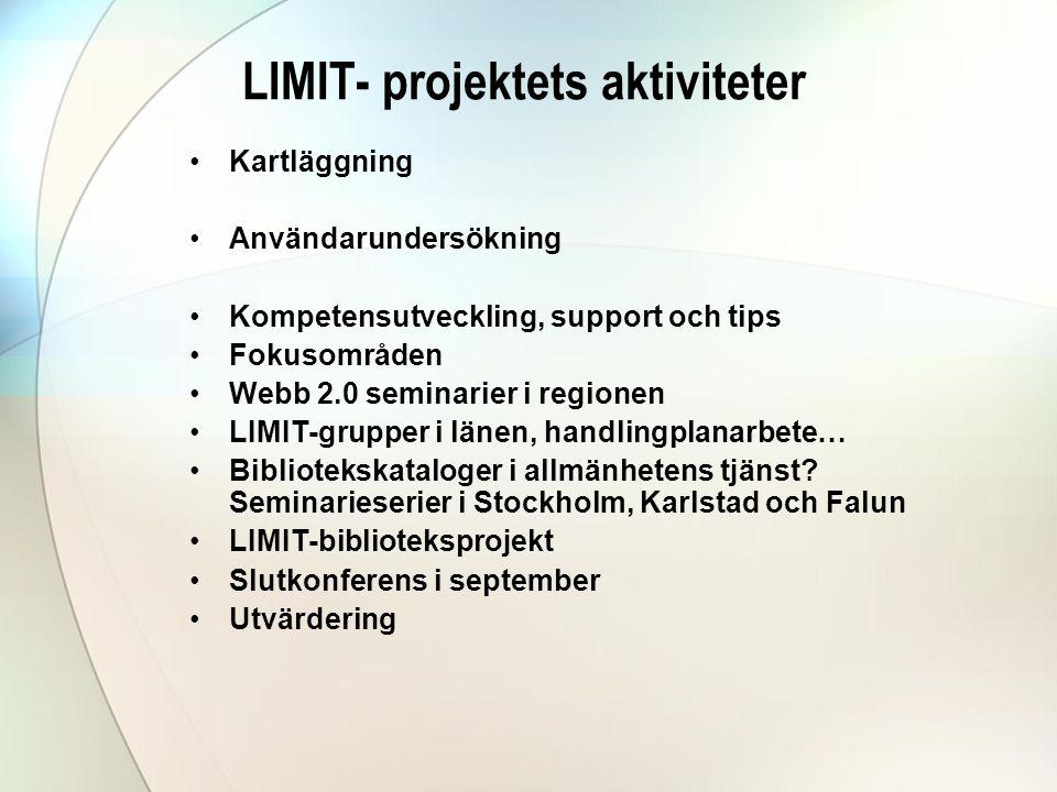 LIMIT- projektets aktiviteter