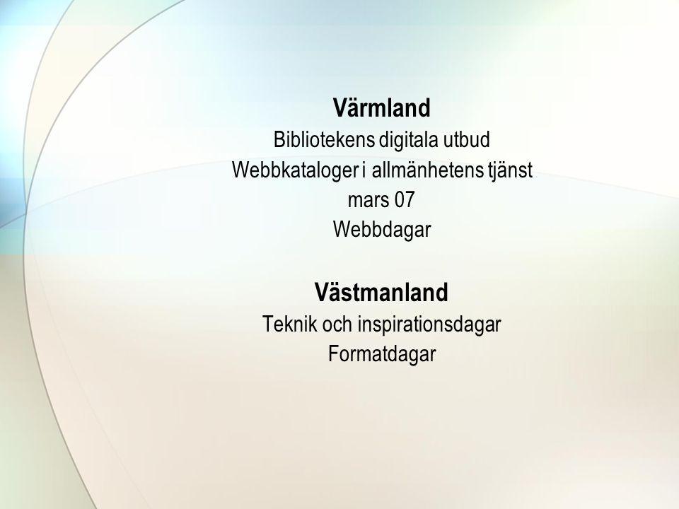 Värmland Västmanland Bibliotekens digitala utbud