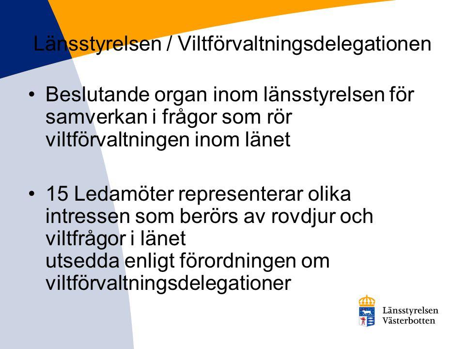 Länsstyrelsen / Viltförvaltningsdelegationen
