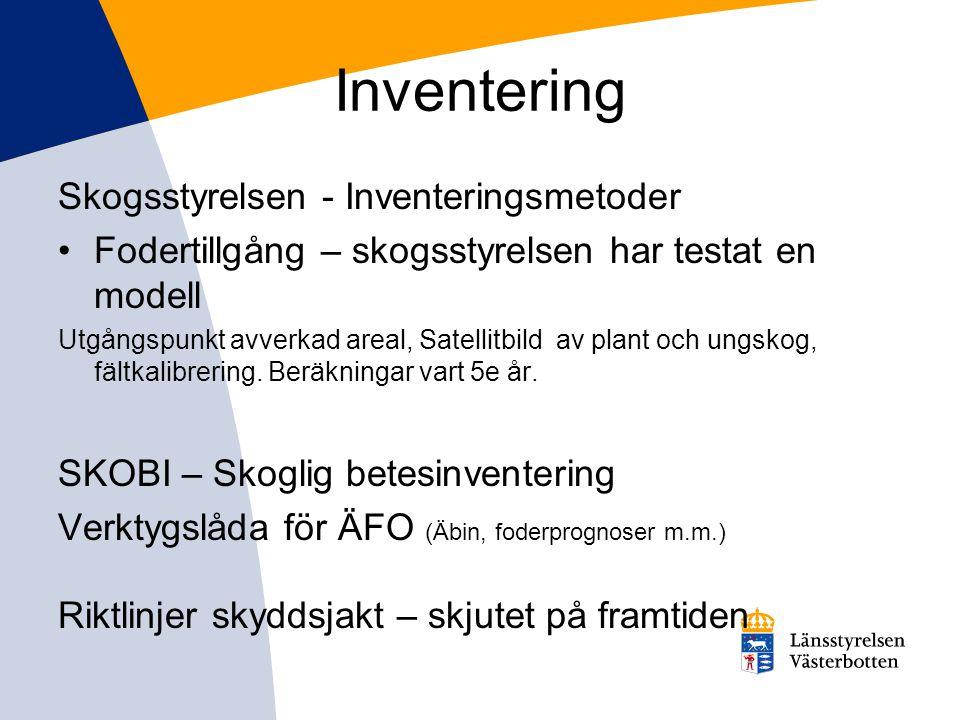 Inventering Skogsstyrelsen - Inventeringsmetoder
