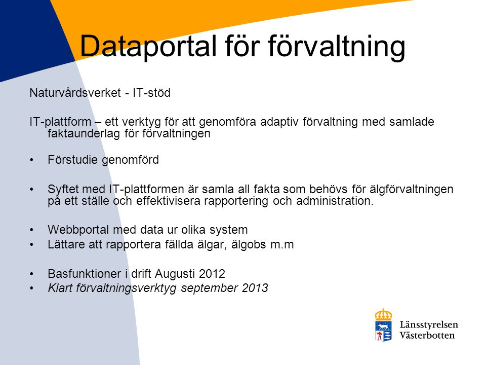 Dataportal för förvaltning