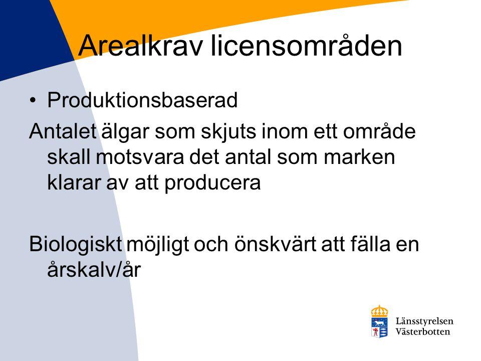 Arealkrav licensområden