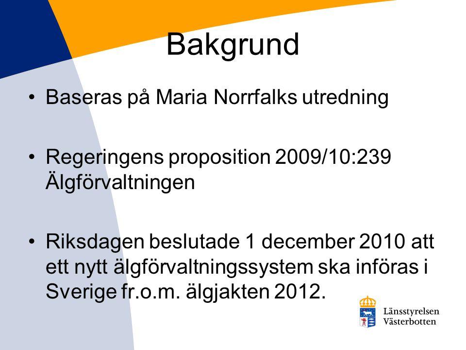 Bakgrund Baseras på Maria Norrfalks utredning