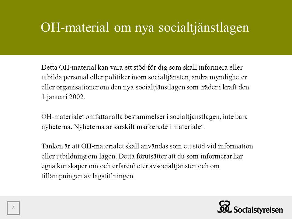 OH-material om nya socialtjänstlagen