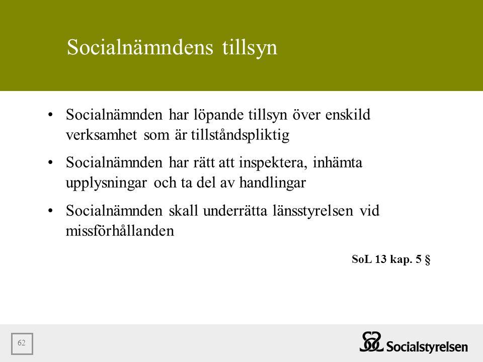 Socialnämndens tillsyn