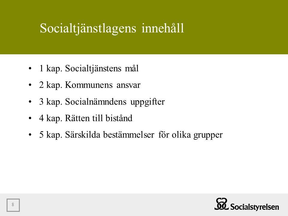 Socialtjänstlagens innehåll