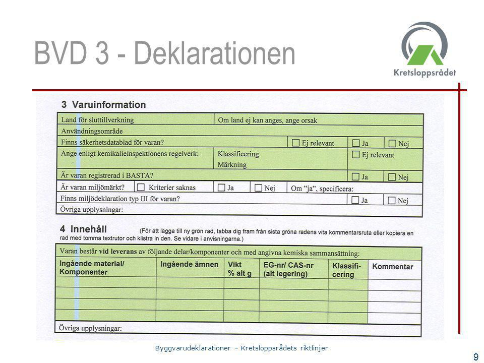 BVD 3 - Deklarationen