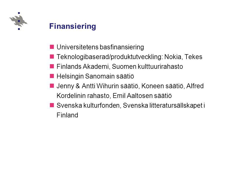 Finansiering Universitetens basfinansiering