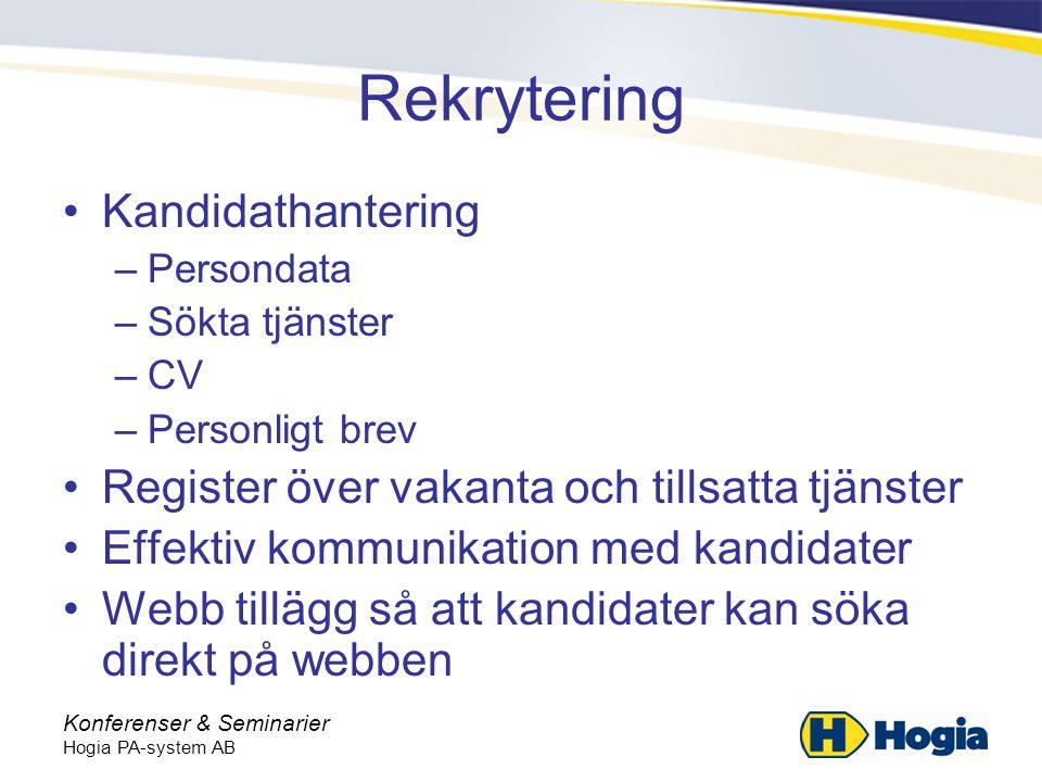 Rekrytering Kandidathantering