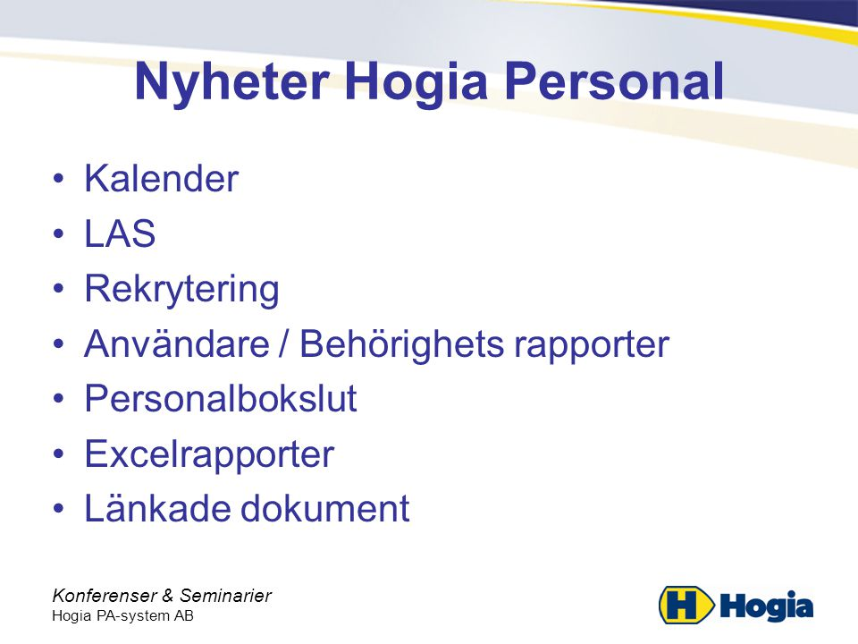 Nyheter Hogia Personal