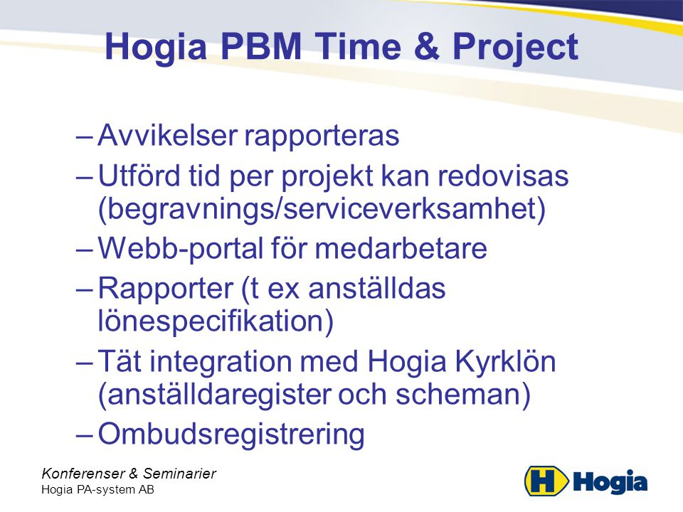 Hogia PBM Time & Project