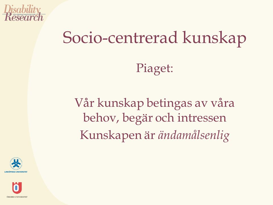 Socio-centrerad kunskap