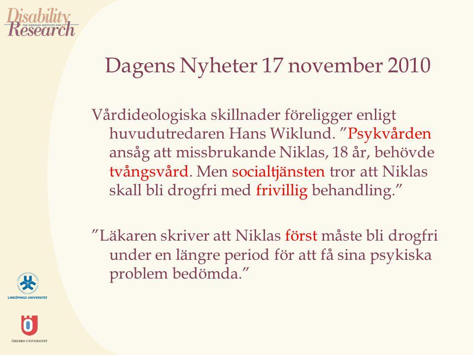 Dagens Nyheter 17 november 2010