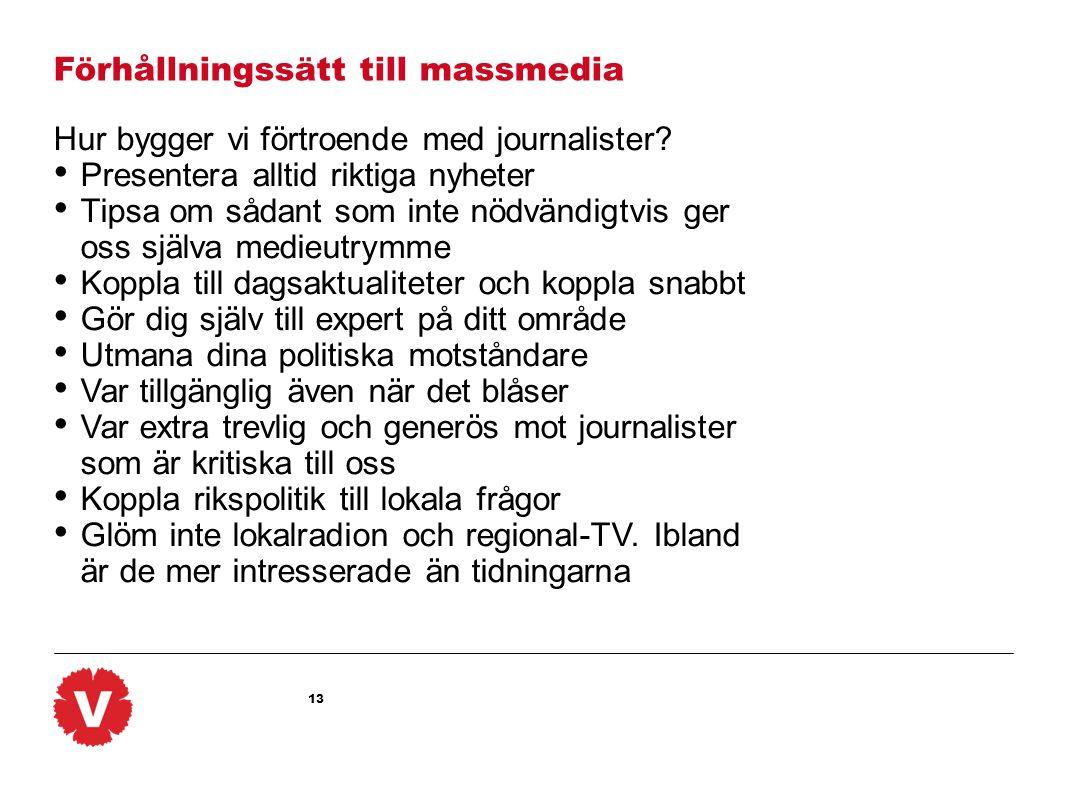 Förhållningssätt till massmedia