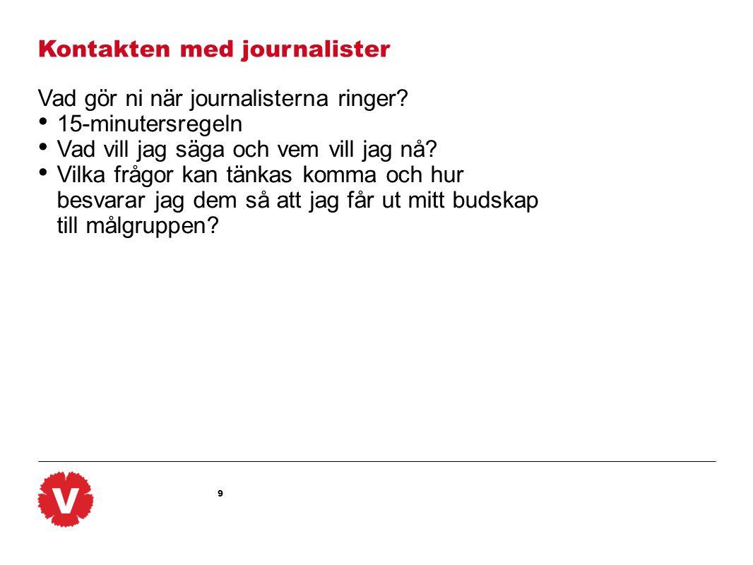 Kontakten med journalister