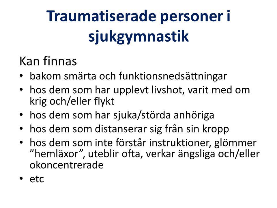 Traumatiserade personer i sjukgymnastik