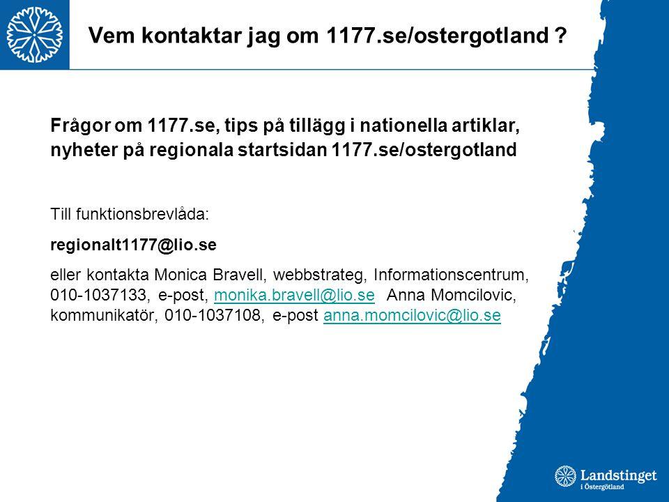 Vem kontaktar jag om 1177.se/ostergotland