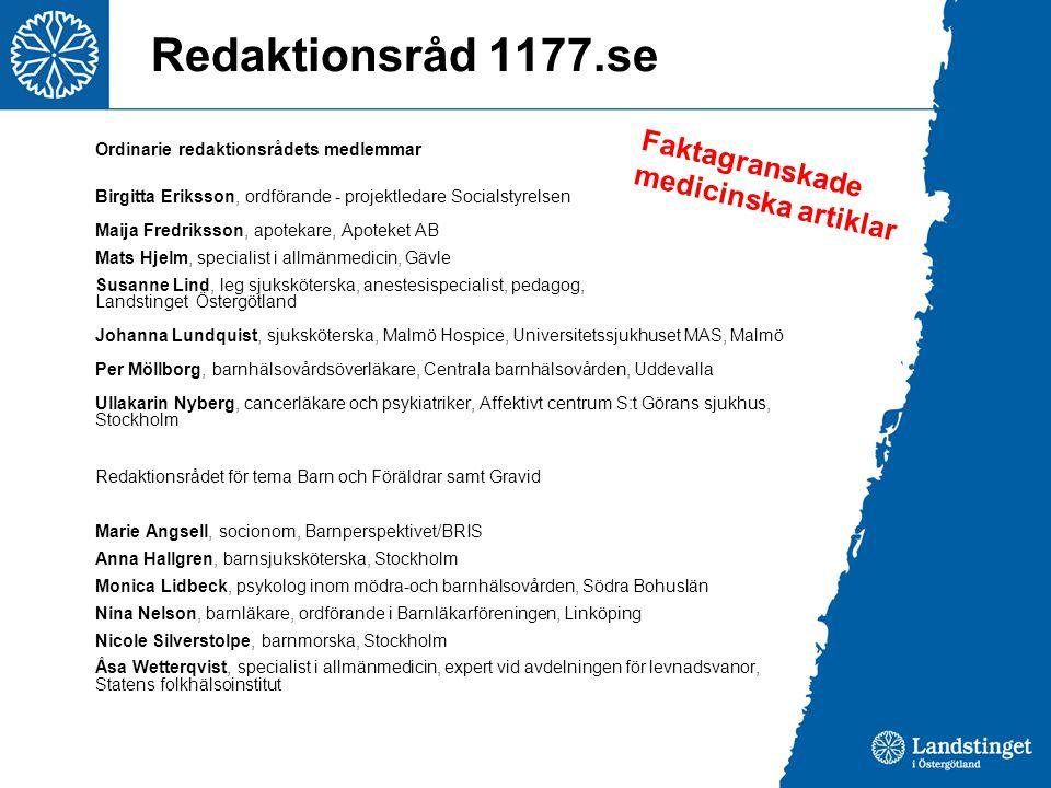 Redaktionsråd 1177.se Faktagranskade medicinska artiklar